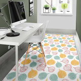 Colorful Onions White Background Area Rug