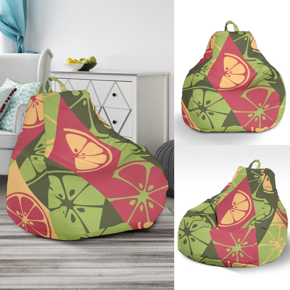 Cool Geometric lime pattern Bean Bag Chair