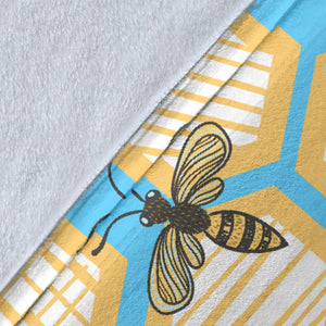 Bee honeycomb pattern Premium Blanket