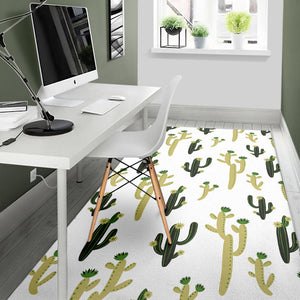 Cute Cactus Pattern Area Rug