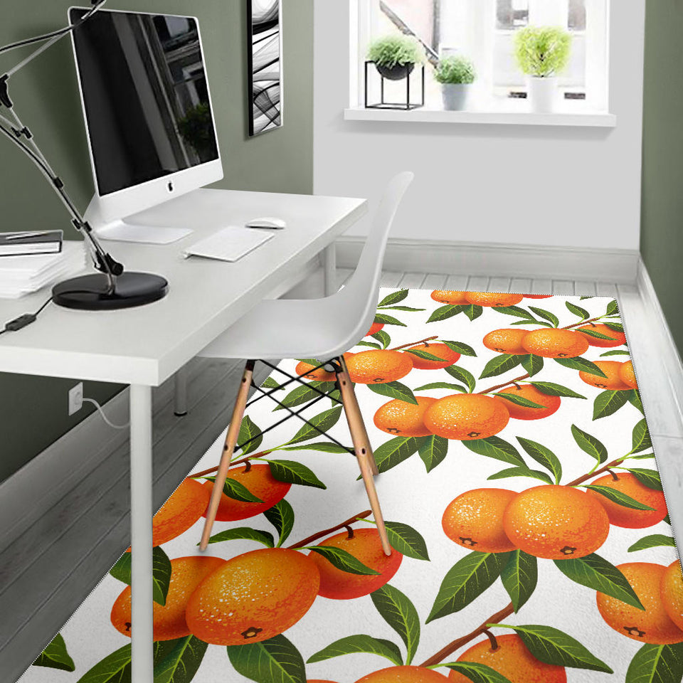 Oranges pattern background Area Rug