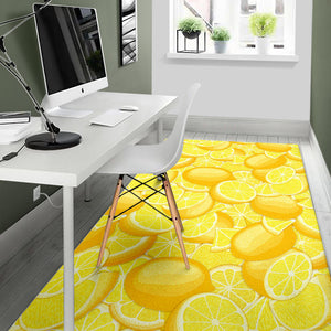lemon pattern Area Rug