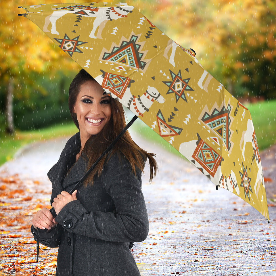 Camels ethnic motif pattern Umbrella