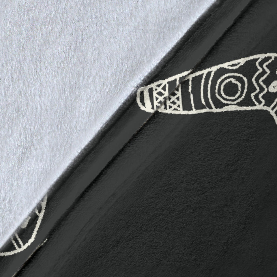 Hand Drawn Boomerang Australian Aboriginal Ornament Premium Blanket