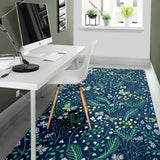 Butterfly Leaves Pattern Area Rug