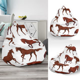 Horses running pattern background Bean Bag Chair