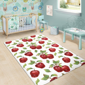 Red Apples Pattern Area Rug