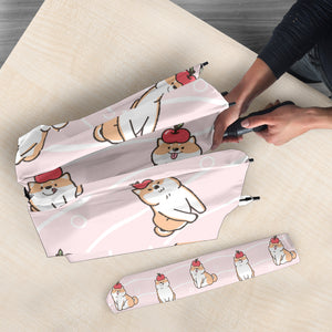 Cute Shiba Inu Dog Apple Pattern Umbrella