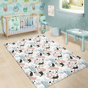cute mermaid pattern Area Rug