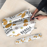 Cute Beagle Dog Pattern Background Umbrella