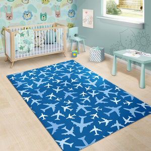 Airplane Pattern In The Sky Area Rug