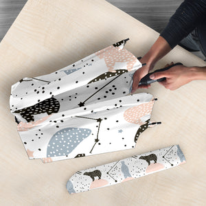 Polar Bears Star Poka Dot Pattern Umbrella