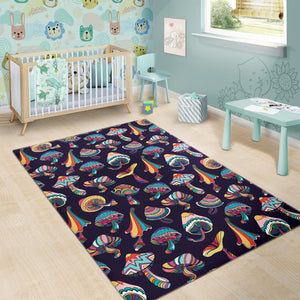 Colorful Mushroom Design Pattern Acolorful Mushroom Pattern Area Rugrea Rug