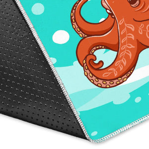 Octopuses sea wave background Area Rug