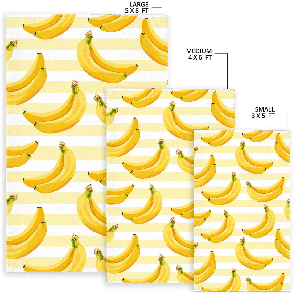 Banana Pattern Blackground Area Rug