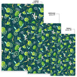Lime Ice Flower Pattern Area Rug