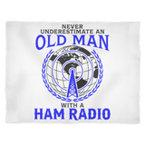 Blanket-Never Underestimate an Old Man With a Ham Radio hr0014