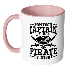 Accent Mug-Pontoon Captain By Day Pirate By Night ccnc006 ccnc012 pb0057