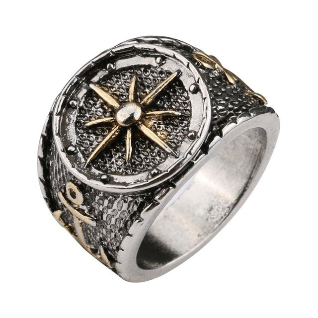 Mens Womens Anchor Ring Black Ccnc006 Bt0232