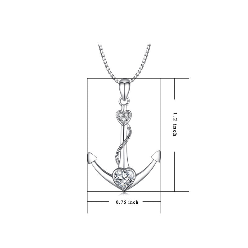 Anchor Pendant Necklace Womens ccnc006 bt0234
