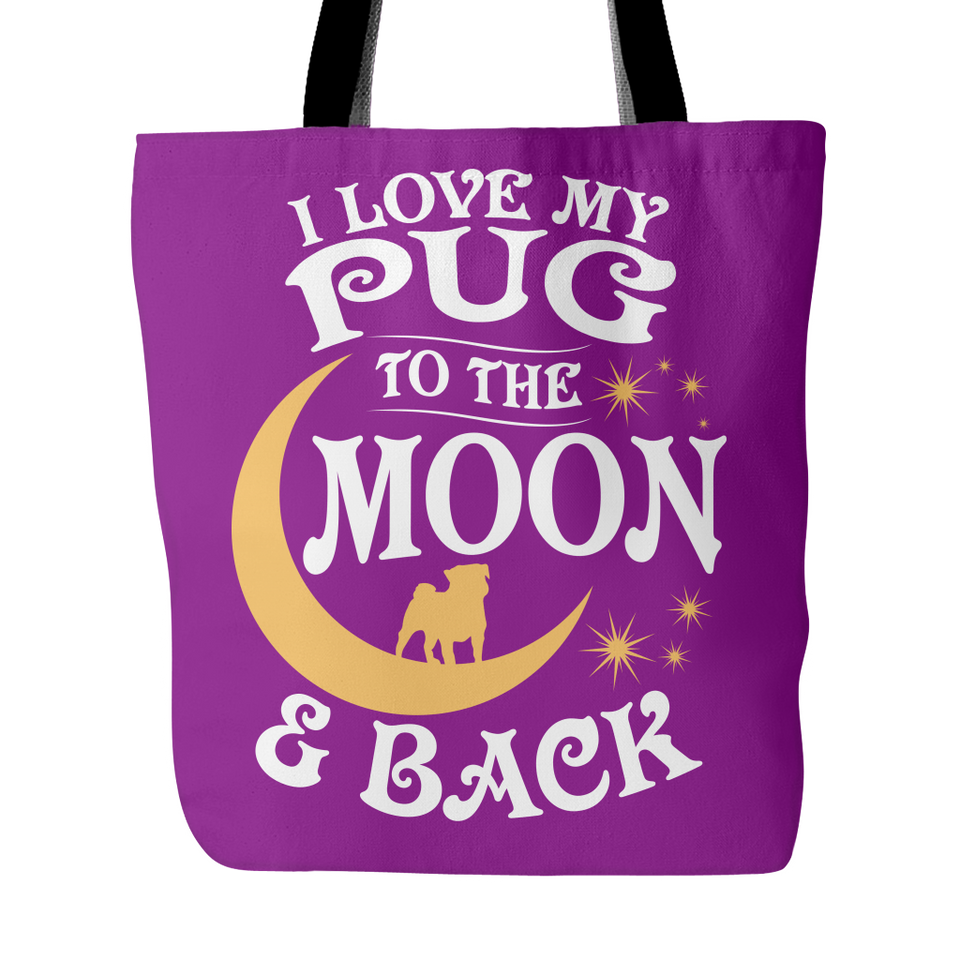 Tote Bag-I Love My Pug To The Moon & Back ccnc003 dg0060