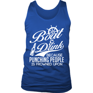 Shirt-Boat&Drink Because Punching People Is Frowned Upon ccnc006-bt0044