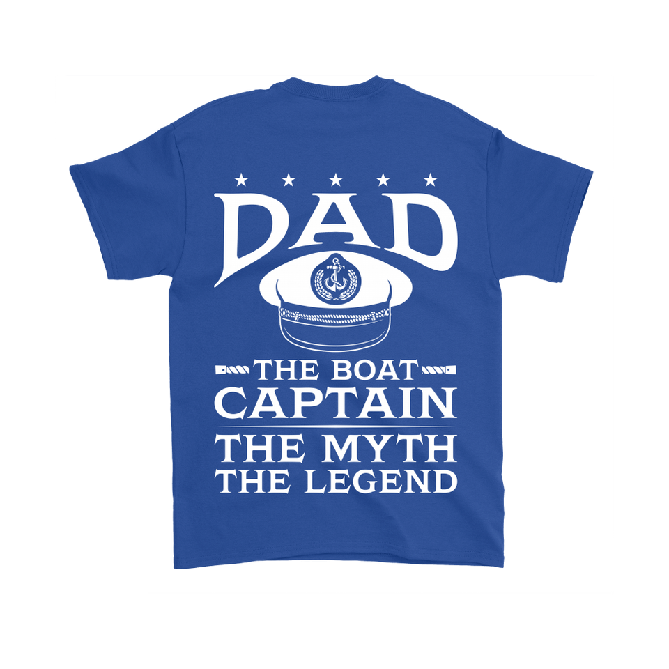 Back Printed Shirt-Dad The Boat Captain The Myth The Legend ccnc006 bt0079
