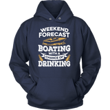 Shirt-Weekend Forecast Boating With a Chance of Drinking ccnc006 bt0013