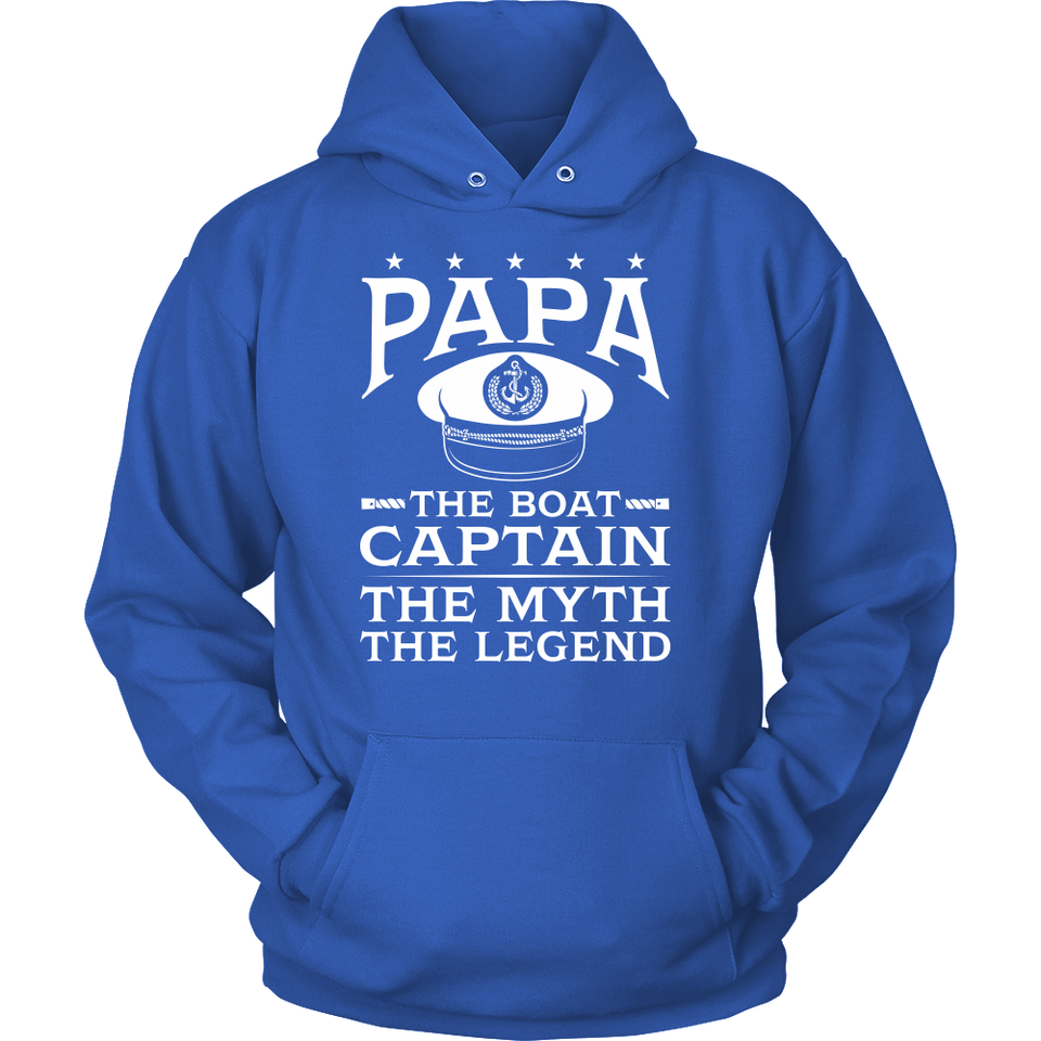 Shirt-Papa The Boat Captain The Myth The Legend ccnc006 bt0081