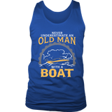 Shirt-Never Underestimate an Old Man With a Boat ccnc006 bt0003