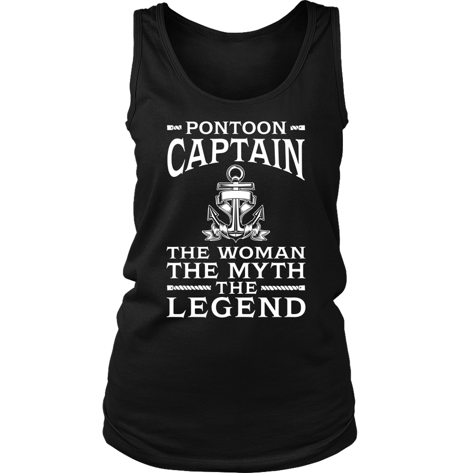 Shirt-Pontoon Captain The Woman The Myth The Legend ccnc006 ccnc012 pb0042