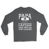 Back Printed Shirt-Papa The Pontoon Captain The Myth The Legend ccnc006 ccnc012 pb0046