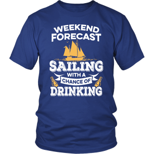 Shirt-Weekend Forecast Sailing With a Chance of Drinking ccnc007 sb0004