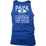 Back Printed Shirt-Papa The Boat Captain The Myth The Legend ccnc006 bt0081
