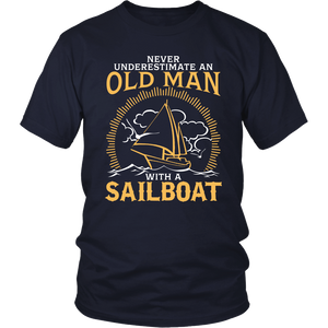 Shirt-Never Underestimate an Old Man With a Sailoat ccnc007 sb0002