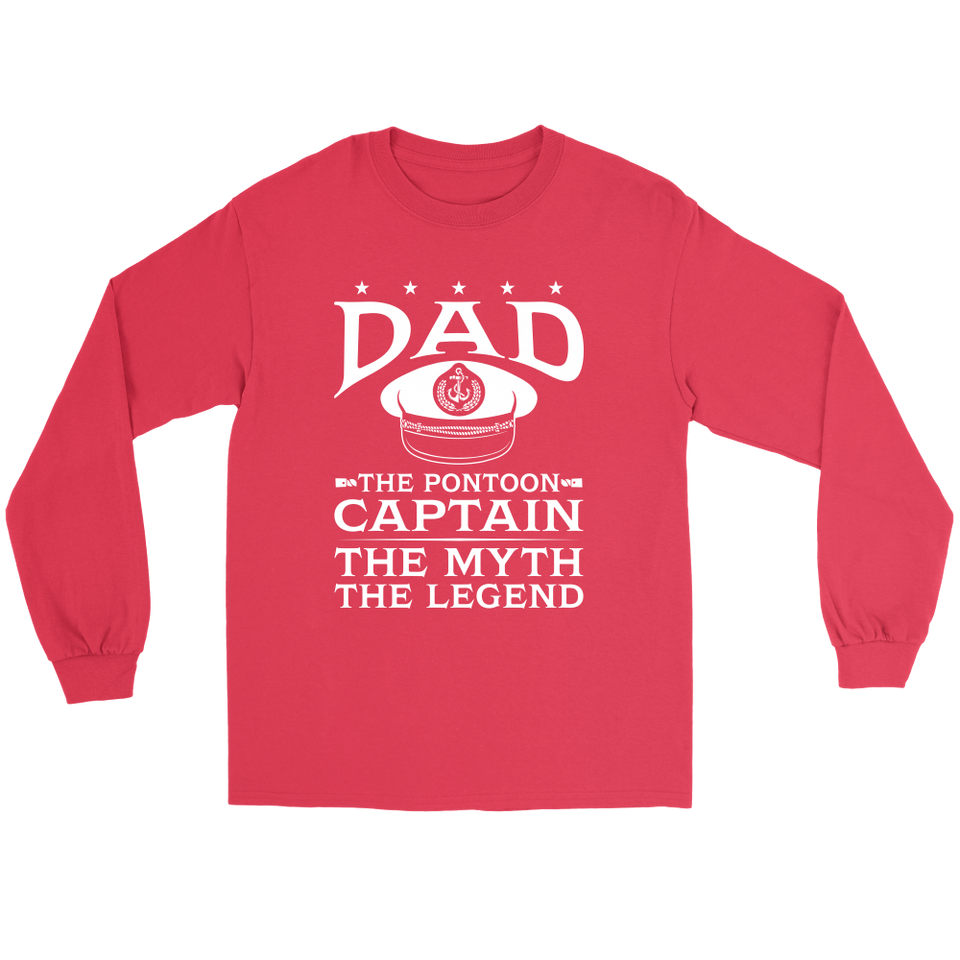 Shirt-Dad The Pontoon Captain The Myth The Legend ccnc006 ccnc012 pb0044
