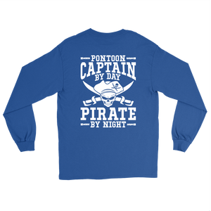 Back Side Printed Shirt -Pontoon Captain By Day Pirate By Night ccnc006 ccnc012 pb0056