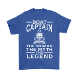 Shirt-Boat Captain The Woman The Myth The Legend ccnc006 bt0077