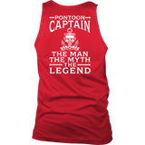 Back Side Shirt-Pontoon Captain The Man The Myth The Legend ccnc006 ccnc012 pb0034