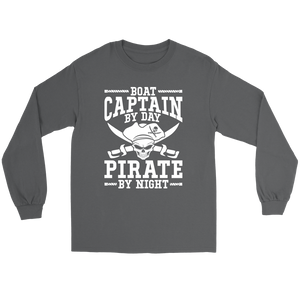 Shirt Boat Captain By Day Pirate By Night ccnc006 bt0091