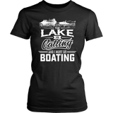 Shirt-Lake is Calling And I Must Go Boating ccnc006 bt0015
