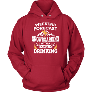 Shirt-Weekend Forecast Snowboarding With a Chance of Drinking ccnc004 sw0002