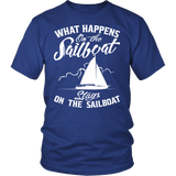 Shirt-What Happens On The Sailboat Stays On The Sailboat ccnc007 sb0005