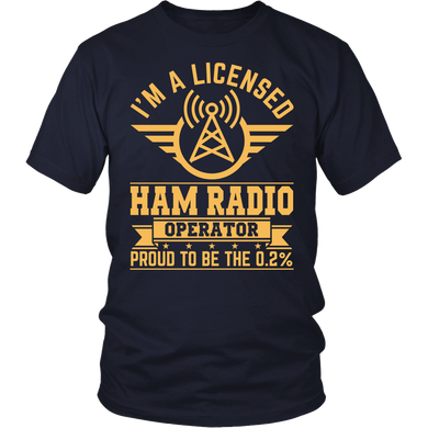 Shirt-I'm A Licensed Ham Radio Operator Proud To Be The 0.2% ccnc001 hr0022