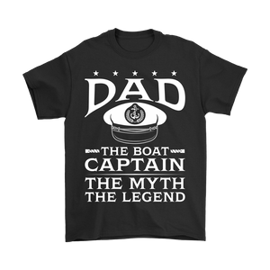Shirt-Dad The Boat Captain The Myth The Legend ccnc006 bt0079