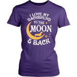 Shirt-I Love My Dachshund To The Moon & Back ccnc003 dg0054