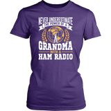 Shirt-Never Underestimate The Power of a Grandma With a Ham Radio V.2 ccnc001 hr0029