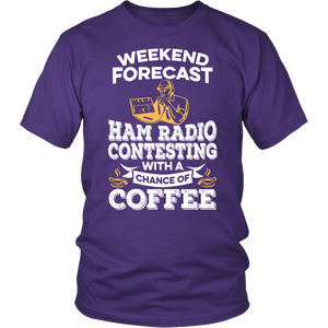 Shirt-Weekend Forecast Ham Radio Contesting With a Chance of coffee ccnc001 hr0026