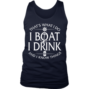 Shirt-That's What I Do I Boat I Drink And I Know Things ccnc006 bt0034