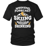 Shirt-Weekend Forecast Skiing With a Chance of Drinking ccnc005 sk0002